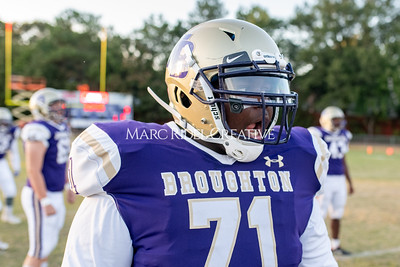Broughton football vs Enloe. Homecoming. October 10, 2019. MRC_2849