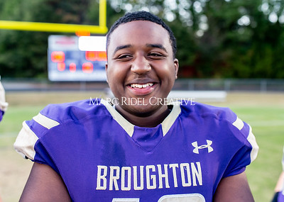 Broughton JV football vs Leesville. October 17, 2019. D4S_4003