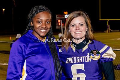 Broughton football vs Millbrook. Senior night. November 8, 2019. MRC_5709