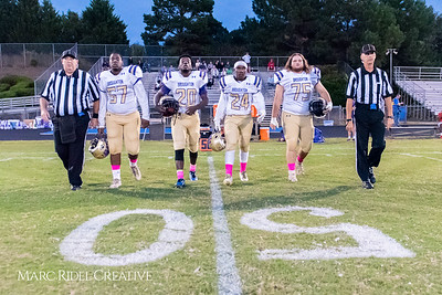 Broughton Varsity football vs Leesville. October 13, 2017.