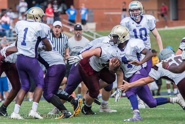 Broughton Football Scrimmages Wakefield at the Southeast Raleigh Jamboree. August 12, 2017