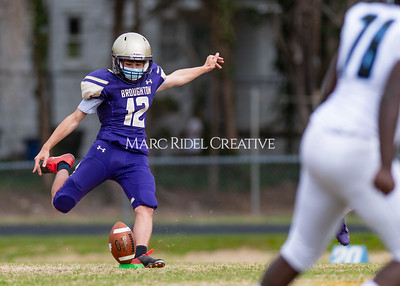Broughton JV football vs Panther Creek. March 13, 2021