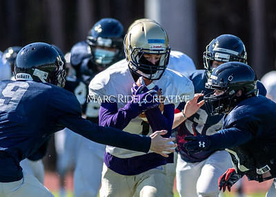 Broughton JV and varsity football scrimmage vs Apex Friendship. February 20, 2021