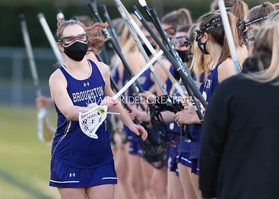Broughton Lady Caps lacrosse vs Enloe. February 25, 2021