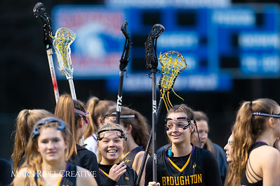 Broughton Lady Caps varsity lacrosse at Sanderson. March 22, 2019. D4S_2700