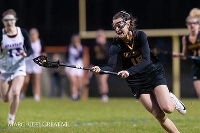Broughton Lady Caps varsity lacrosse at Sanderson. March 22, 2019. D4S_2773