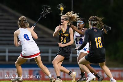 Broughton Lady Caps varsity lacrosse at Sanderson. March 22, 2019. D4S_2747