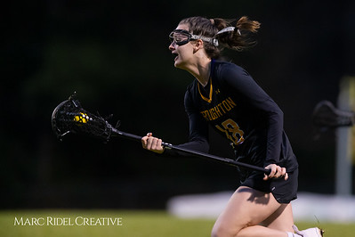 Broughton Lady Caps varsity lacrosse at Sanderson. March 22, 2019. D4S_2777