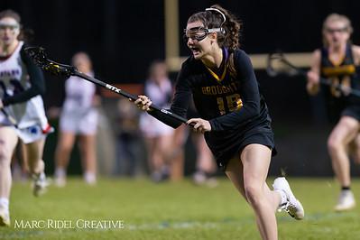 Broughton Lady Caps varsity lacrosse at Sanderson. March 22, 2019. D4S_2775