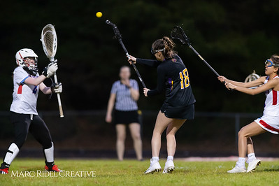 Broughton Lady Caps varsity lacrosse at Sanderson. March 22, 2019. D4S_2755