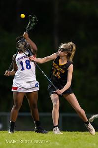 Broughton Lady Caps varsity lacrosse at Sanderson. March 22, 2019. D4S_2740