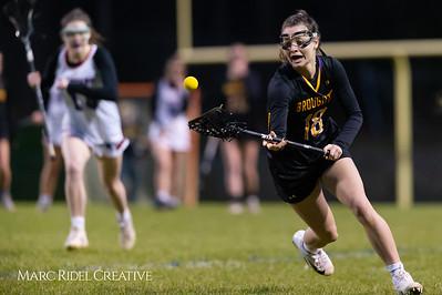 Broughton Lady Caps varsity lacrosse at Sanderson. March 22, 2019. D4S_2772