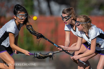 Broughton JV Lady Caps lacrosse vs Cardinal Gibbons. March 19, 2019. D4S_1130