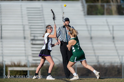 Broughton JV Lady Caps lacrosse vs Cardinal Gibbons. March 19, 2019. D4S_1123
