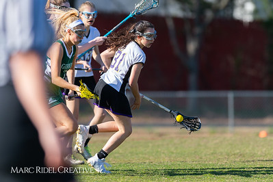 Broughton JV Lady Caps lacrosse vs Cardinal Gibbons. March 19, 2019. D4S_1088