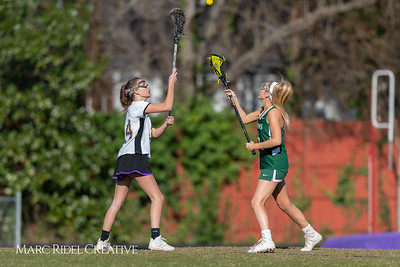 Broughton JV Lady Caps lacrosse vs Cardinal Gibbons. March 19, 2019. D4S_1192