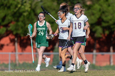 Broughton JV Lady Caps lacrosse vs Cardinal Gibbons. March 19, 2019. D4S_1108
