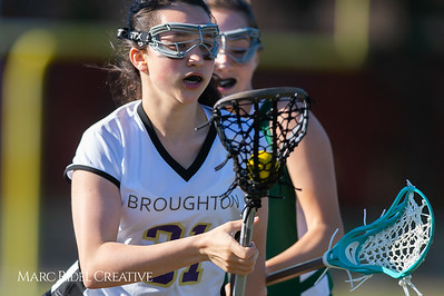 Broughton JV Lady Caps lacrosse vs Cardinal Gibbons. March 19, 2019. D4S_1083
