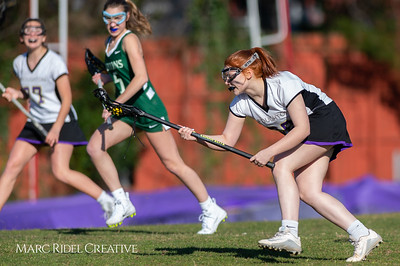 Broughton JV Lady Caps lacrosse vs Cardinal Gibbons. March 19, 2019. D4S_1173