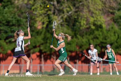 Broughton JV Lady Caps lacrosse vs Cardinal Gibbons. March 19, 2019. D4S_1151