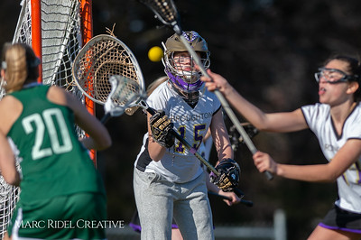 Broughton JV Lady Caps lacrosse vs Cardinal Gibbons. March 19, 2019. D4S_1162