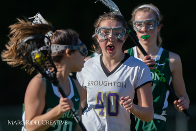 Broughton JV Lady Caps lacrosse vs Cardinal Gibbons. March 19, 2019. D4S_1202