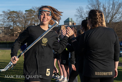 Broughton varsity Lady Caps lacrosse vs Cardinal Gibbons. March 19, 2019. MRC_4620
