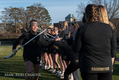 Broughton varsity Lady Caps lacrosse vs Cardinal Gibbons. March 19, 2019. MRC_4618