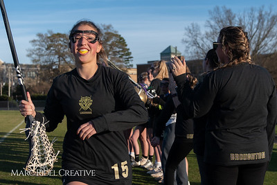 Broughton varsity Lady Caps lacrosse vs Cardinal Gibbons. March 19, 2019. MRC_4651