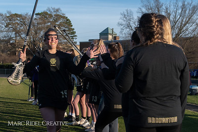 Broughton varsity Lady Caps lacrosse vs Cardinal Gibbons. March 19, 2019. MRC_4649
