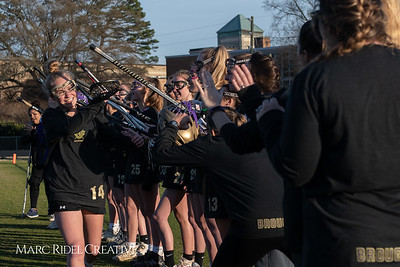Broughton varsity Lady Caps lacrosse vs Cardinal Gibbons. March 19, 2019. MRC_4637