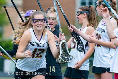 Broughton Lady Caps varsity lacrosse vs Leesville. April 9, 2019. D4S_4145