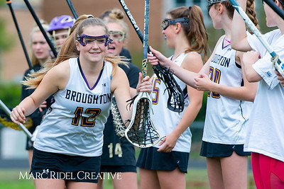 Broughton Lady Caps varsity lacrosse vs Leesville. April 9, 2019. D4S_4146