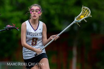 Broughton Lady Caps varsity lacrosse vs Leesville. April 9, 2019. D4S_4315