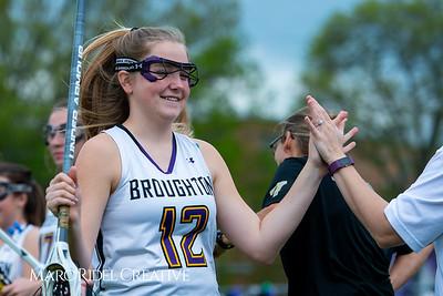 Broughton Lady Caps varsity lacrosse vs Leesville. April 9, 2019. D4S_4151