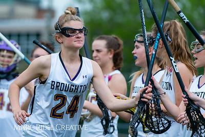 Broughton Lady Caps varsity lacrosse vs Leesville. April 9, 2019. D4S_4191