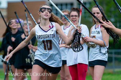 Broughton Lady Caps varsity lacrosse vs Leesville. April 9, 2019. D4S_4139