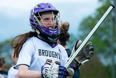 Broughton Lady Caps varsity lacrosse vs Leesville. April 9, 2019. D4S_4206