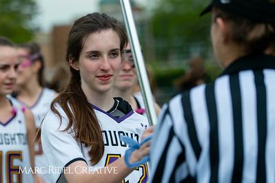Broughton Lady Caps varsity lacrosse vs Leesville. April 9, 2019. D4S_4075