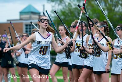 Broughton Lady Caps varsity lacrosse vs Leesville. April 9, 2019. D4S_4141