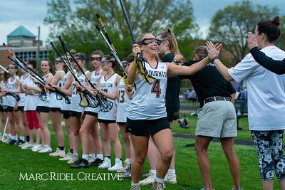 Broughton Lady Caps varsity lacrosse vs Leesville. April 9, 2019. D4S_4116