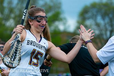 Broughton Lady Caps varsity lacrosse vs Leesville. April 9, 2019. D4S_4166