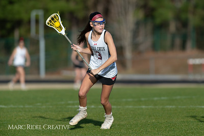 Broughton Lady Caps lacrosse at Middle Creek. February 26, 2019. D4S_1637