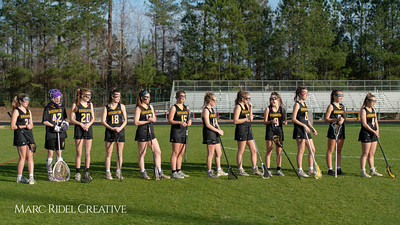 Broughton Lady Caps lacrosse at Middle Creek. February 26, 2019. D4S_1614