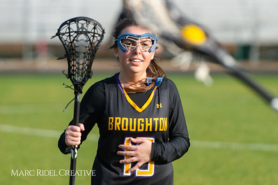 Broughton Lady Caps lacrosse at Middle Creek. February 26, 2019. D4S_1530