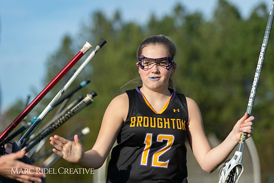 Broughton Lady Caps lacrosse at Middle Creek. February 26, 2019. D4S_1575