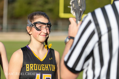 Broughton Lady Caps lacrosse at Middle Creek. February 26, 2019. D4S_1565
