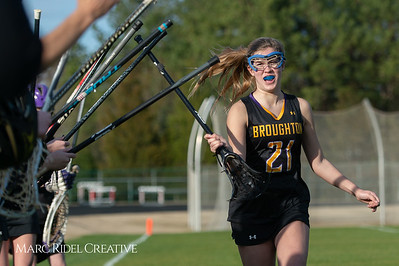 Broughton Lady Caps lacrosse at Middle Creek. February 26, 2019. D4S_1599