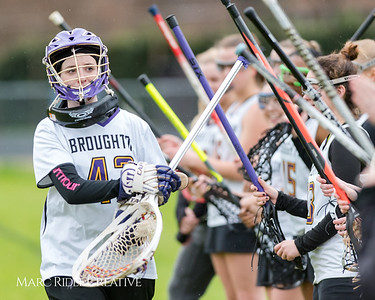 Broughton girl's varsity lacrosse defeats Rolesville 26-1 at home in the season opener. February 28, 2018.