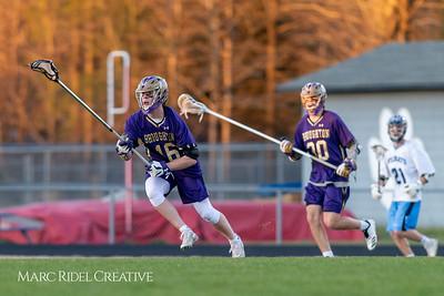 Broughton varsity lacrosse vs Millbrook. March 27, 2019. D4S_5367